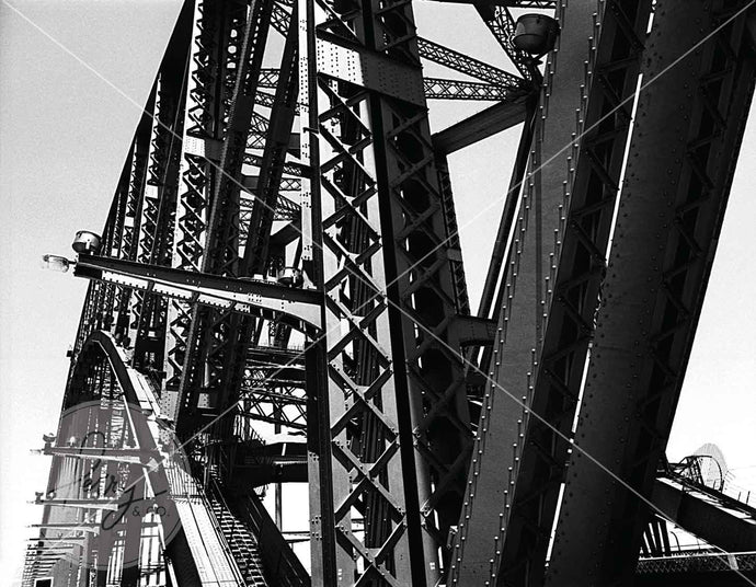 Photographic print of Sydney Harbour Bridge NSW Australia taken by David Perry 1981 close up of bride details historical image iconic landmark