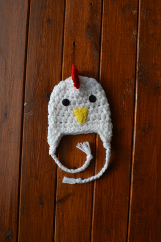Crochet Baby Rooster Hat Baby Boy Hat Newborn Photo Prop - kgphotoprops