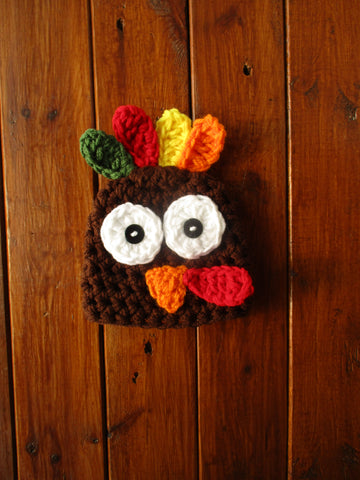 Crochet Chocolate Baby Turkey Hat Newborn Photography Prop - kgphotoprops
