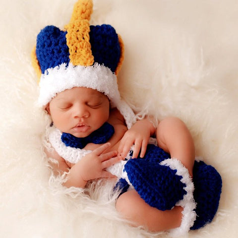 Crochet Baby Prince Outfit for Pictures