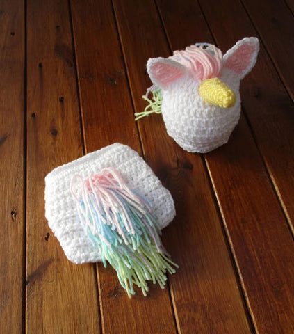 Unicorn Crochet Newborn Baby Set Baby Photography Prop - kgphotoprops