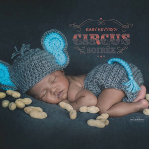 2017 Beautiful Newborn Baby Elephant Knit Crochet Hat Costume ... | 300x300