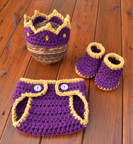 Crochet Baby King Prince Set For Photo Prop
