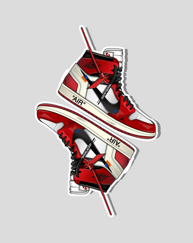 """OW x Jordan 1 Sticker Pack (2 Stickers)"" - no sply"