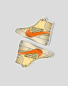 """Blazer Mid All Hallow's Eve"" (2 Stickers) - no sply"