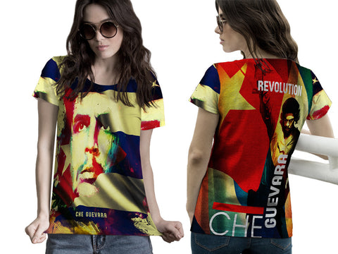 Che Guevara Cuba Revolution Fans Woman T-Shirt 3D Fullprint Sublimation Size : S To 3XL