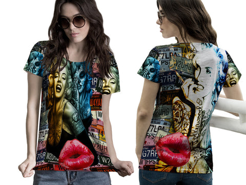 MARYLIN MONROE PRINTED WOMEN 3D T-SHIRT