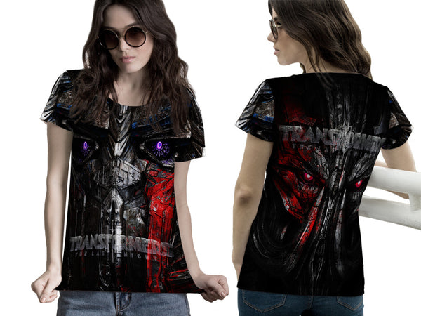 Transformers The Last Knight Fans Women T-Shirt 3D Fullprint Sublimation Size : S To 3XL