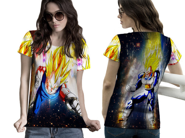 VEGETA DRAGON BALL PRINTED WOMEN 3D T-SHIRT