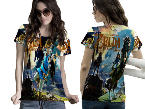 LEGEND OF ZELDA PRINTED WOMEN 3D T-SHIRT
