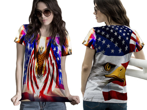 EAGLE PRINTED WOMEN T-SHIRT