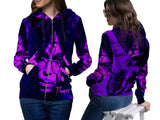 Prince Memorial Fans Woman Zipper Hoodie Custom Fullprint Sublimation sizes: S to 3XL