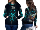 THE LEGEND OF ZELDA Womens TOP Zipper Hoodie Video Game Custom Fullprint Sublimation sizes: S to 3XL