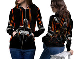 CALL OF DUTY PRINT SUBLIMATION 3D ZIPPER HOODIE FOR WOMEN