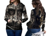 LOGAN Fans Women Zipper Hoodie 3D Fullprint Sublimation Size : S To 3XL