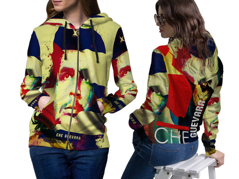 Che Guevara Cuba Revolution Fans Woman Zipper Hoodie 3D Fullprint Sublimation Size : S To 3XL