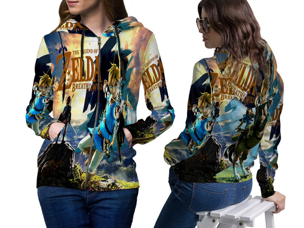LEGEND OF ZELDA PRINT SUBLIMATION 3D ZIPPER HOODIE FOR WOMEN