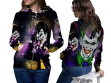 SUICIDE SQUAD JOKER PRINT SUBLIMATION 3D ZIPPER HOODIE FOR WOMEN