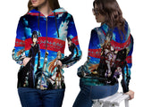 SWORD ART ONLINE PRINT SUBLIMATION 3D ZIPPER HOODIE FOR WOMEN