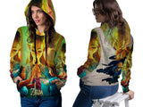 THE LEGEND OF ZELDA Womens TOP PullOver Hoodie Video Game Custom Fullprint Sublimation sizes: S to 3XL