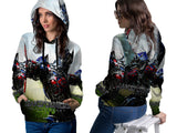 Transformers The Last Knight Fans Women PullOver Hoodie 3D Fullprint Sublimation Size : S To 3XL