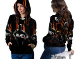 CALL OF DUTY PRINT SUBLIMATION 3D PULLOVER HOODIE FOR WOMEN