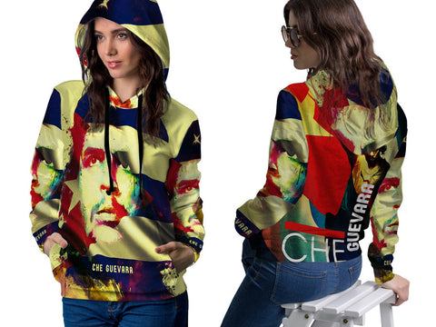CHE GUEVARA PRINT SUBLIMATION 3D PULLOVER HOODIE FOR WOMEN