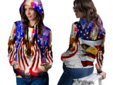 AMERICAN EAGLE PRINT SUBLIMATION 3D PULLOVER HOODIE FOR WOMEN