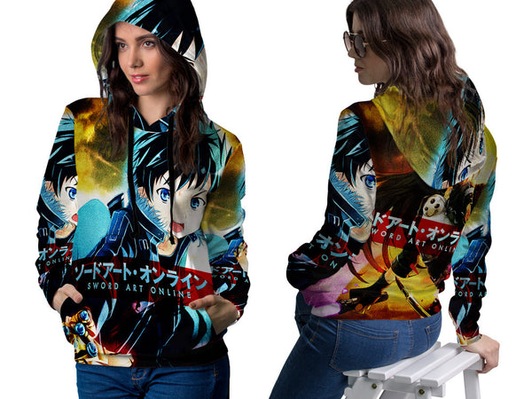SWORD ART ONLINE PRINTED SUBLIMATION 3D PULLOVER HOODIE FOR WOMEN