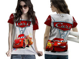 Cars 3 Disney Fans Women Tee 3D Fullprint Sublimation Size : S To 3XL