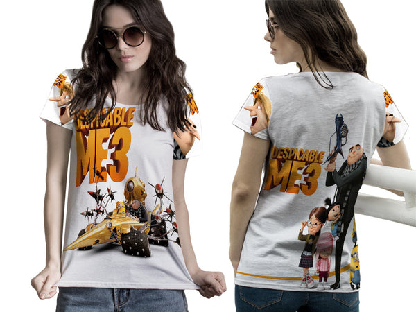 Despicable Me 3 For Women Tee 3D Fullprint Sublimation Size : S To 3XL