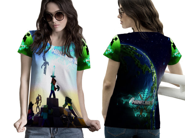 MINECRAFT For Women Tee 3D Fullprint Sublimation Size : S To 3XL