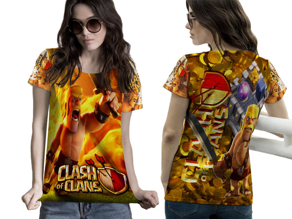 Clash of Clans For Women Tee 3D Fullprint Sublimation Size : S To 3XL
