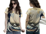 Abstract 3D Digital Printed Sublimation Women's T-Shirt sizes: S to 3XL