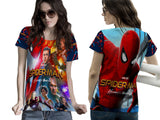 New Spider-Man Homecoming Fans Woman Top T Shirt 3D Fullprint Sublimation Size : S To 3XL