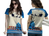 Christmas 3D Digital Printed Sublimation Women's T-Shirt