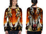 Realistic LION 3D Digital Printed Sublimation Women's LONG SLEEVE Size : S To 3XL