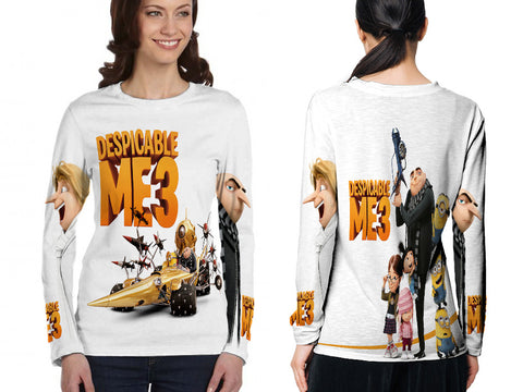 Despicable Me 3 For Women Long Sleeve 3D Fullprint Sublimation Size : S To 3XL