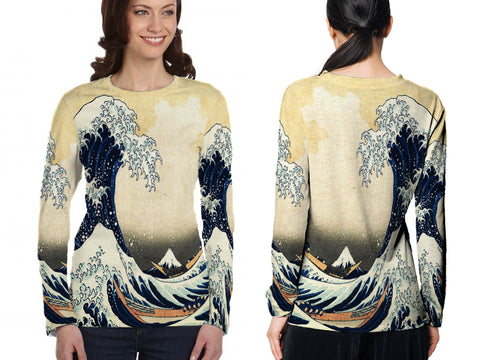 Abstract 3D Digital Printed Sublimation Women's LONG SLEEVE Size : S To 3XL