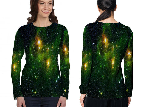 Space Galaxy 3D Digital Printed Sublimation Women's LONG SLEEVE Size : S To 3XL