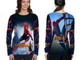 New Spider-Man Homecoming Fans Women Top LONG SLEEVE 3D Fullprint Sublimation Size : S To 3XL