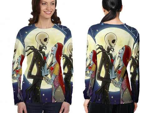 The Nightmare Before Christmas 3D Digital Printed Women's Long Sleeve T-Shirt Sublimation