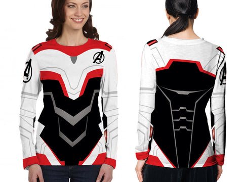 New Fans Avengers Endgame Costume 3D Digital Printed Sublimation Women's LONG SLEEVE Size : S To 3XL