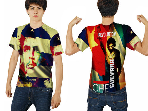 Che Guevara Cuba Revolution Fans Man T-Shirt 3D Fullprint Sublimation Size : S To 3XL