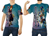 Kingdom Hearts Mens TOP T-Shirt Disney Video Game Custom Fullprint Sublimation sizes: S to 3XL