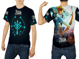 THE LEGEND OF ZELDA Mens TOP T-Shirt Video Game Custom Fullprint Sublimation sizes: S to 3XL