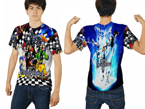 KINGDOM HEART PRINTED MEN 3D T-SHIRT