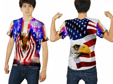 EAGLE PRINTED MEN T-SHIRT