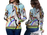 Realistic Animal Cats 3D Digital Printed Women's Zipper Hoodie sizes: S to 3XL