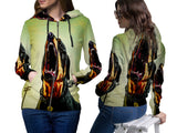 Realistic Animal Dogs 3D Digital Printed Women's Zipper Hoodie sizes: S to 3XL